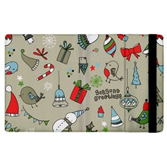 Beautiful Design Christmas Seamless Pattern Apple Ipad 2 Flip Case