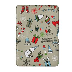 Beautiful Design Christmas Seamless Pattern Samsung Galaxy Tab 2 (10 1 ) P5100 Hardshell Case
