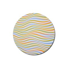 Art Abstract Colorful Colors Rubber Round Coaster (4 Pack)