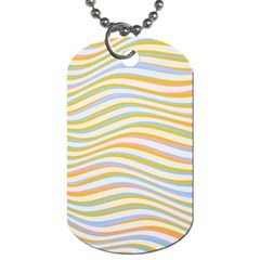 Art Abstract Colorful Colors Dog Tag (two Sides)
