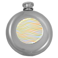 Art Abstract Colorful Colors Round Hip Flask (5 Oz)