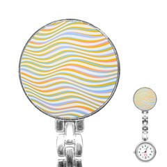 Art Abstract Colorful Colors Stainless Steel Nurses Watch