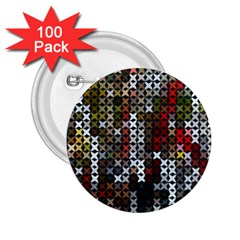Christmas Cross Stitch Background 2 25  Buttons (100 Pack)