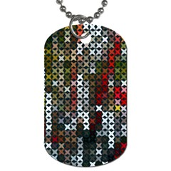 Christmas Cross Stitch Background Dog Tag (two Sides)
