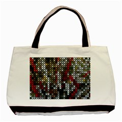 Christmas Cross Stitch Background Basic Tote Bag