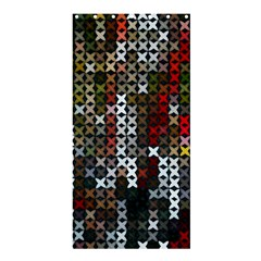Christmas Cross Stitch Background Shower Curtain 36  X 72  (stall)