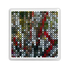 Christmas Cross Stitch Background Memory Card Reader (square)