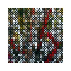 Christmas Cross Stitch Background Acrylic Tangram Puzzle (6  X 6 )
