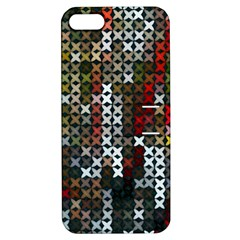 Christmas Cross Stitch Background Apple Iphone 5 Hardshell Case With Stand