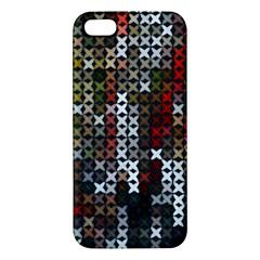 Christmas Cross Stitch Background Iphone 5s/ Se Premium Hardshell Case