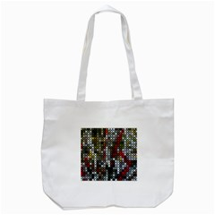 Christmas Cross Stitch Background Tote Bag (white)
