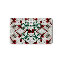 Christmas Paper Magnet (name Card)