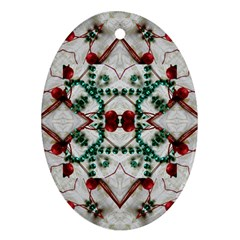 Christmas Paper Oval Ornament (two Sides)
