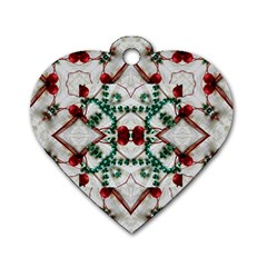 Christmas Paper Dog Tag Heart (one Side)