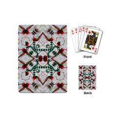 Christmas Paper Playing Cards (mini)
