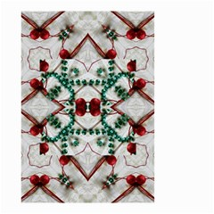 Christmas Paper Small Garden Flag (two Sides)