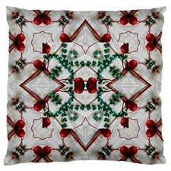 Christmas Paper Large Cushion Case (two Sides)