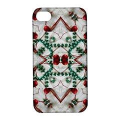 Christmas Paper Apple Iphone 4/4s Hardshell Case With Stand