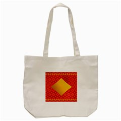 Christmas Card Pattern Background Tote Bag (cream)