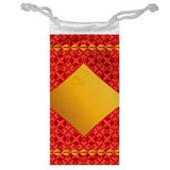 Christmas Card Pattern Background Jewelry Bag