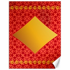 Christmas Card Pattern Background Canvas 18  X 24
