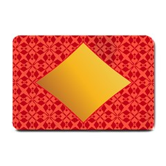 Christmas Card Pattern Background Small Doormat
