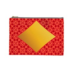 Christmas Card Pattern Background Cosmetic Bag (large)