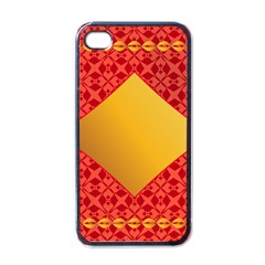 Christmas Card Pattern Background Apple Iphone 4 Case (black)