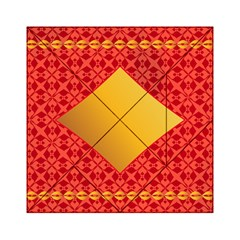 Christmas Card Pattern Background Acrylic Tangram Puzzle (6  X 6 )