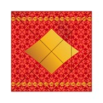 Christmas Card Pattern Background Acrylic Tangram Puzzle (6  x 6 ) Front