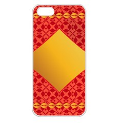 Christmas Card Pattern Background Apple Iphone 5 Seamless Case (white)