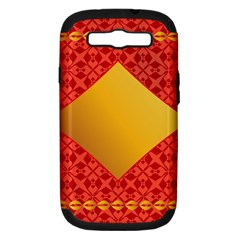 Christmas Card Pattern Background Samsung Galaxy S Iii Hardshell Case (pc+silicone)