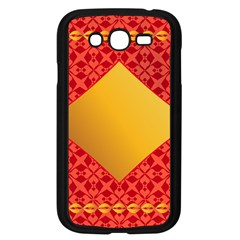 Christmas Card Pattern Background Samsung Galaxy Grand Duos I9082 Case (black)