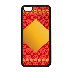 Christmas Card Pattern Background Apple Iphone 5c Seamless Case (black)