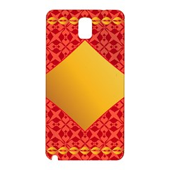 Christmas Card Pattern Background Samsung Galaxy Note 3 N9005 Hardshell Back Case
