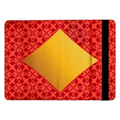 Christmas Card Pattern Background Samsung Galaxy Tab Pro 12 2  Flip Case