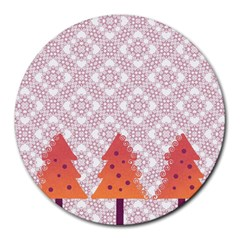 Christmas Card Elegant Round Mousepads