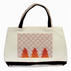 Christmas Card Elegant Basic Tote Bag