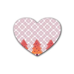 Christmas Card Elegant Heart Coaster (4 Pack)