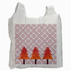 Christmas Card Elegant Recycle Bag (two Side)