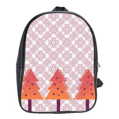 Christmas Card Elegant School Bag (xl)