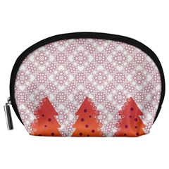 Christmas Card Elegant Accessory Pouches (large)