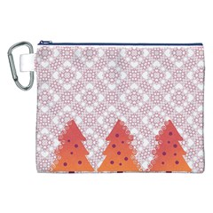 Christmas Card Elegant Canvas Cosmetic Bag (xxl)