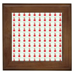 At On Christmas Present Background Framed Tiles