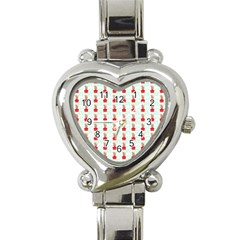 At On Christmas Present Background Heart Italian Charm Watch