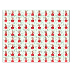 At On Christmas Present Background Rectangular Jigsaw Puzzl