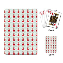 At On Christmas Present Background Playing Card