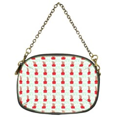 At On Christmas Present Background Chain Purses (one Side)