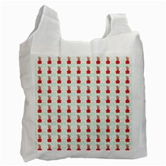 At On Christmas Present Background Recycle Bag (two Side)
