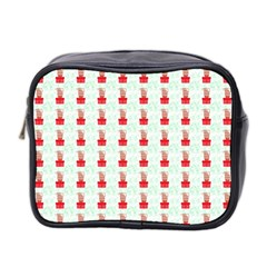 At On Christmas Present Background Mini Toiletries Bag 2 Side